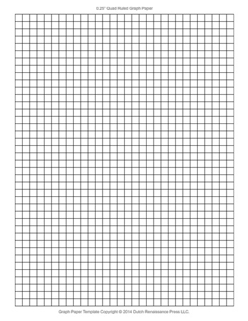 Printable Graph Paper - 0.25 Inch - Tim's Printables