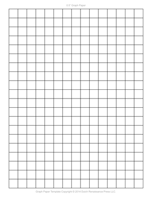 Marvelous 1/2 Inch Printable Graph Paper, Letter PDF Throughout Graphing Paper Printable Template