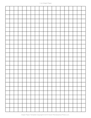 Perfect 1 Centimeter Graph Paper Template, Letter PDF