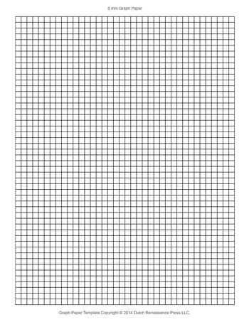 Graph Paper Template, 8.5x11 Letter Printable PDF