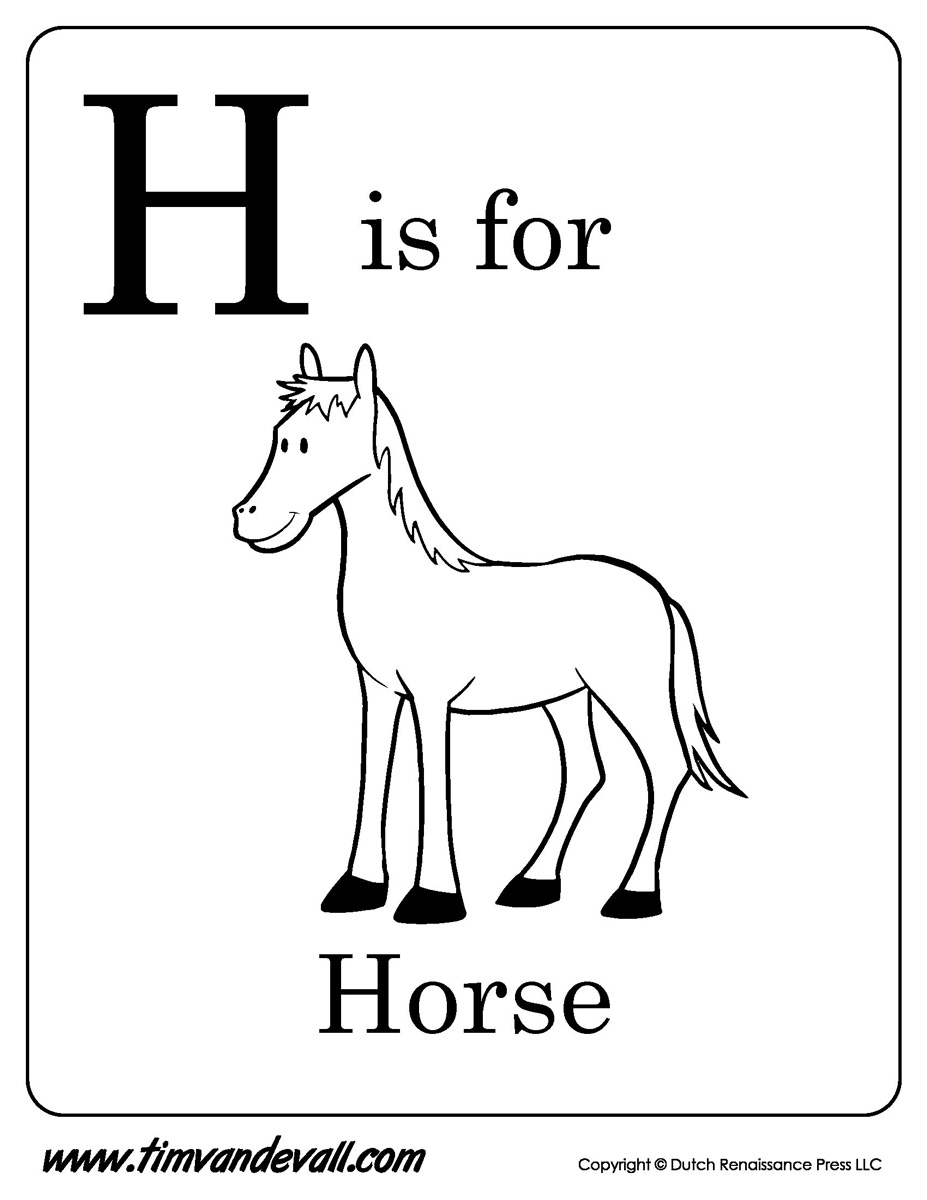 h is for horse printable tim u0027s printables