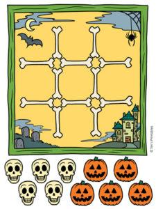 Halloween Tic Tac Toe Activity PDF