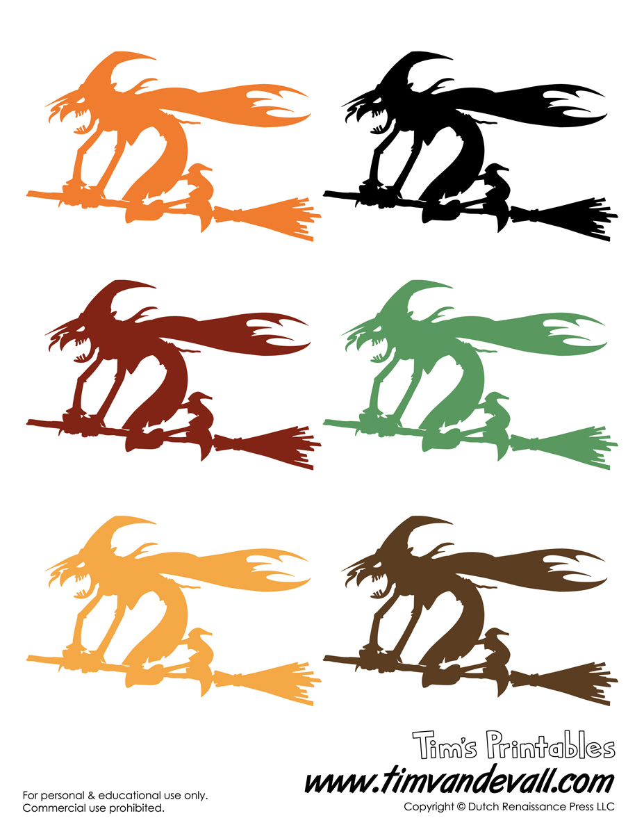 graphic about Halloween Cutouts Printables known as Printable Witch Templates Halloween Witch Decorations