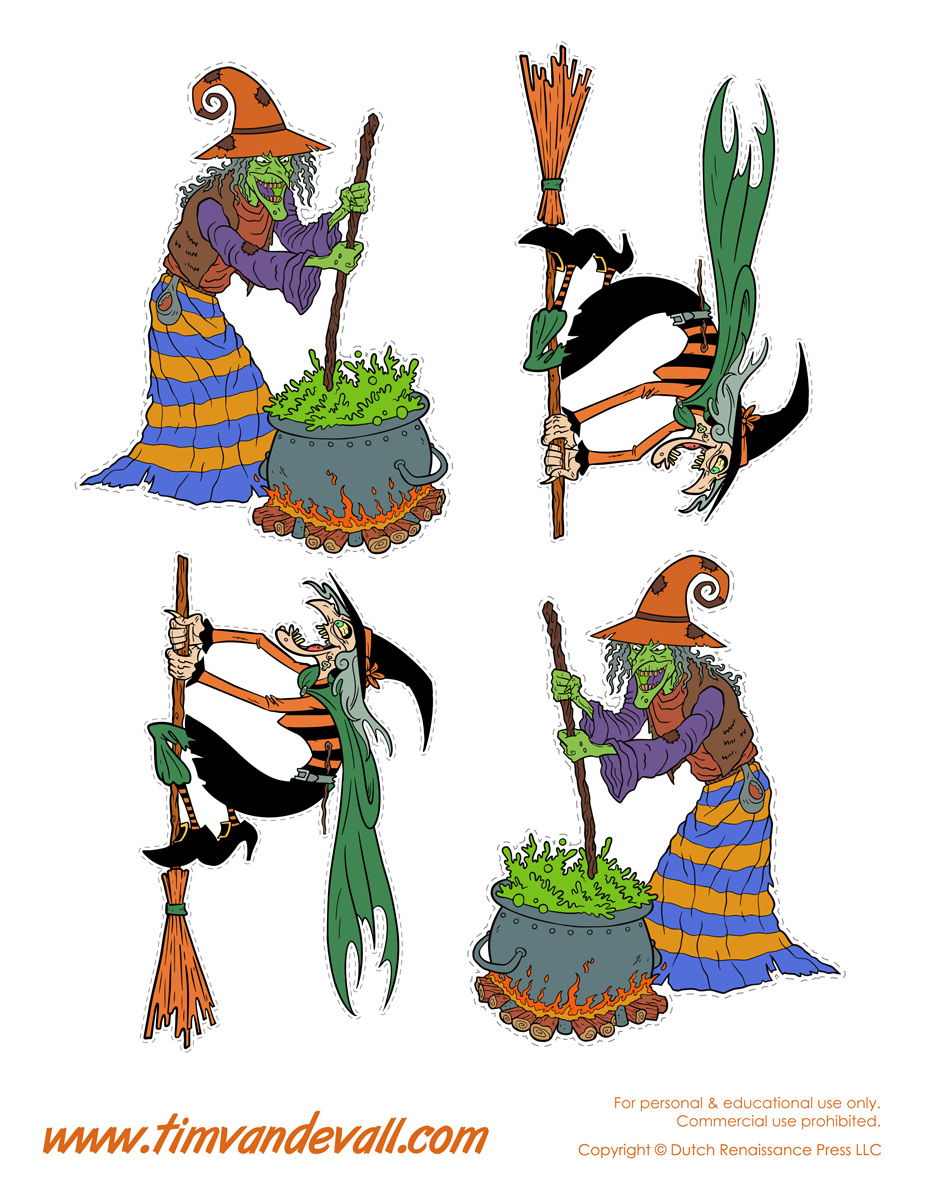 printable witch templates u0026 halloween witch decorations