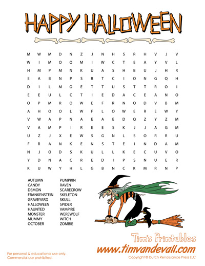 graphic regarding Halloween Word Search Puzzle Printable called Halloween Phrase Appear! Absolutely free Printable Halloween Things to do
