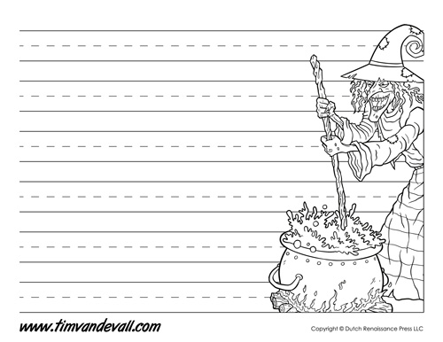 Halloween Writing Paper Template
