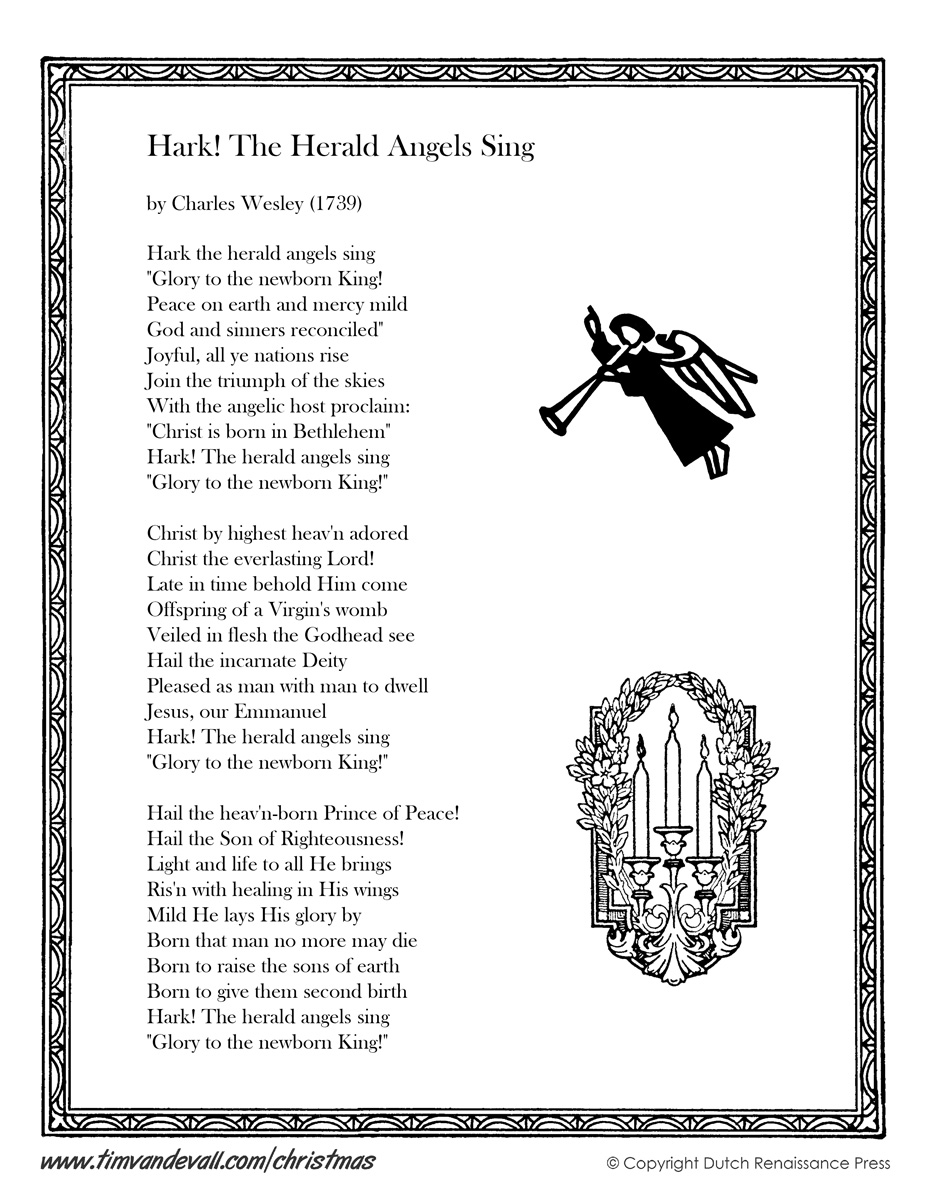 Hark the Herald Angels Sing Lyrics | Christmas Lyrics