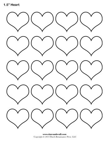 Heart Template   Inch  TimS Printables