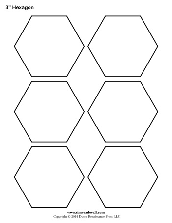 image regarding Printable Hexagon Template called Hexagon Template - 3 inch - Tims Printables