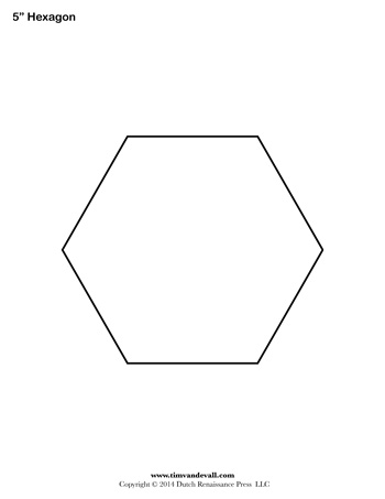 Hexagon template 5 inch tim 39 s printables for 1 5 inch hexagon template