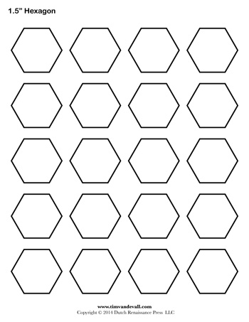 Number Names Worksheets hexagon printable template : Hexagon Template - 1.5 Inch - Tim's Printables