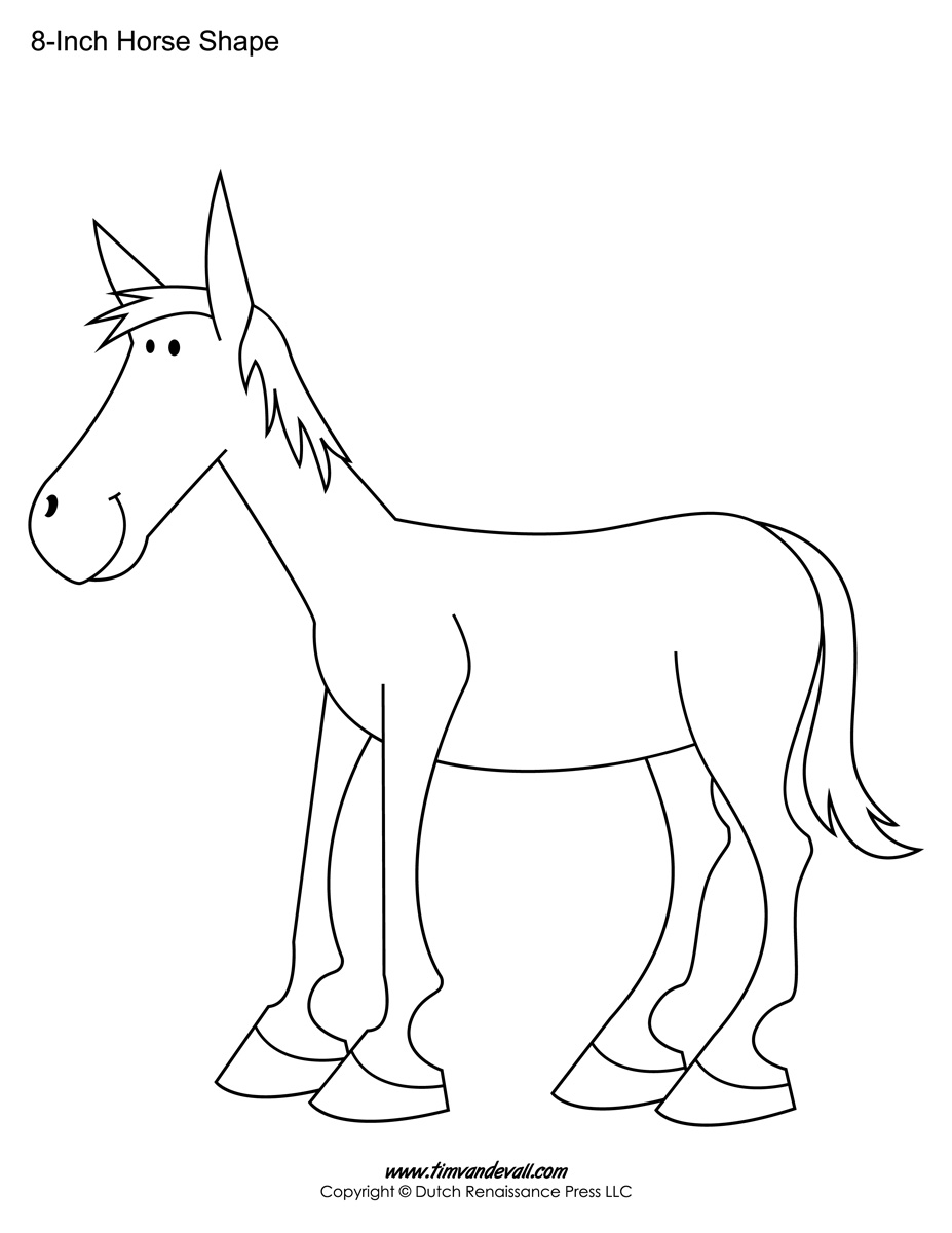 Printable Horse Templates Horse Shapes For Art Crafts