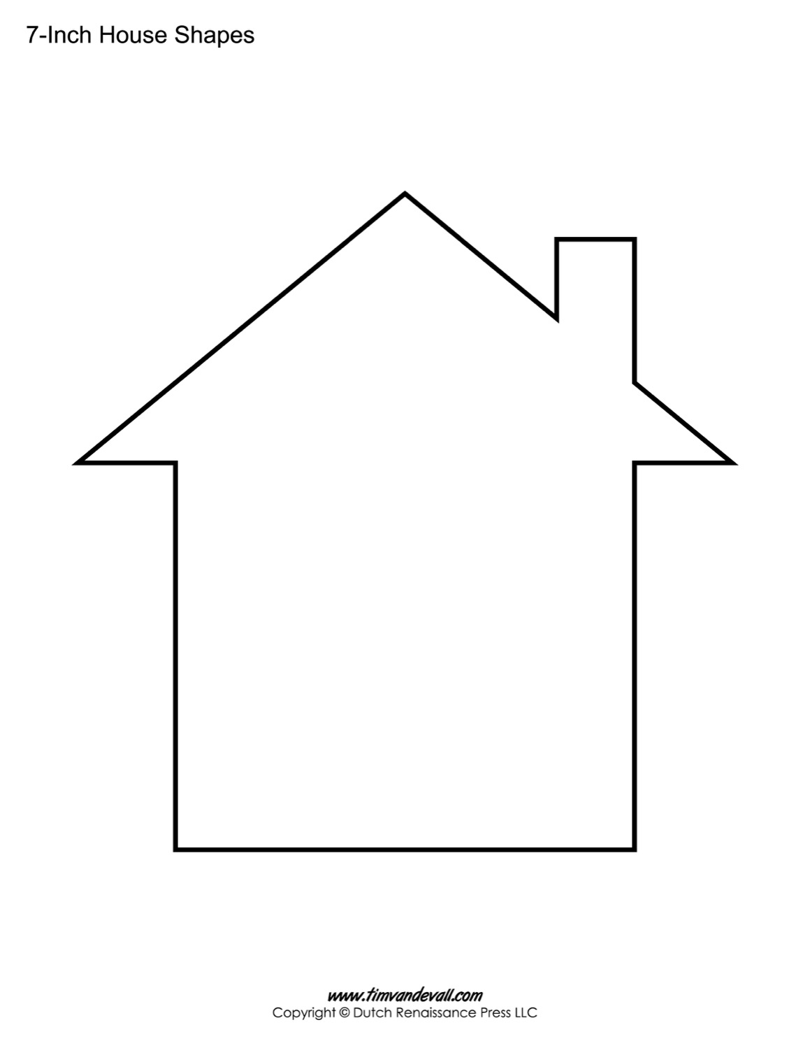 It is a photo of Dynamite Printable House Template
