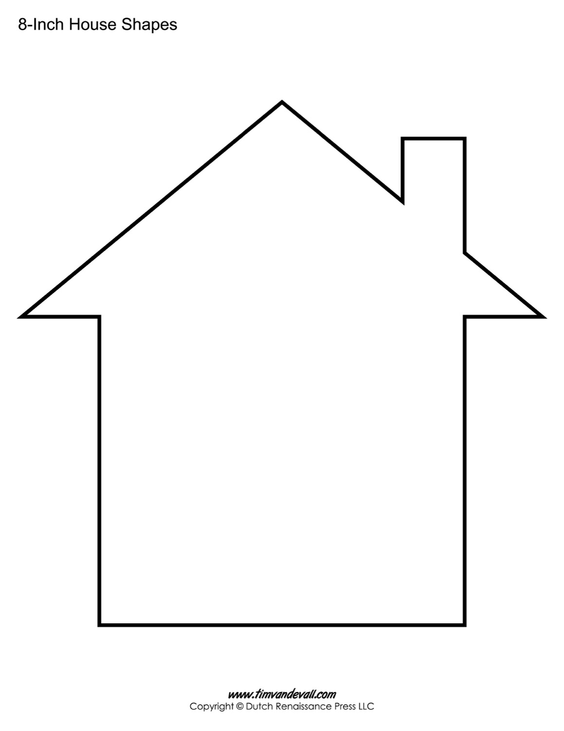 House templates free blank house shape pdfs for Home design templates