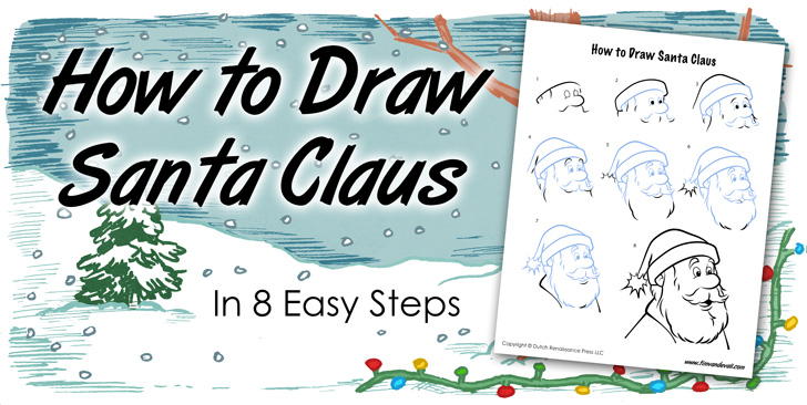 how to draw santa claus in 8 easy steps tims printables - How To Draw Printables