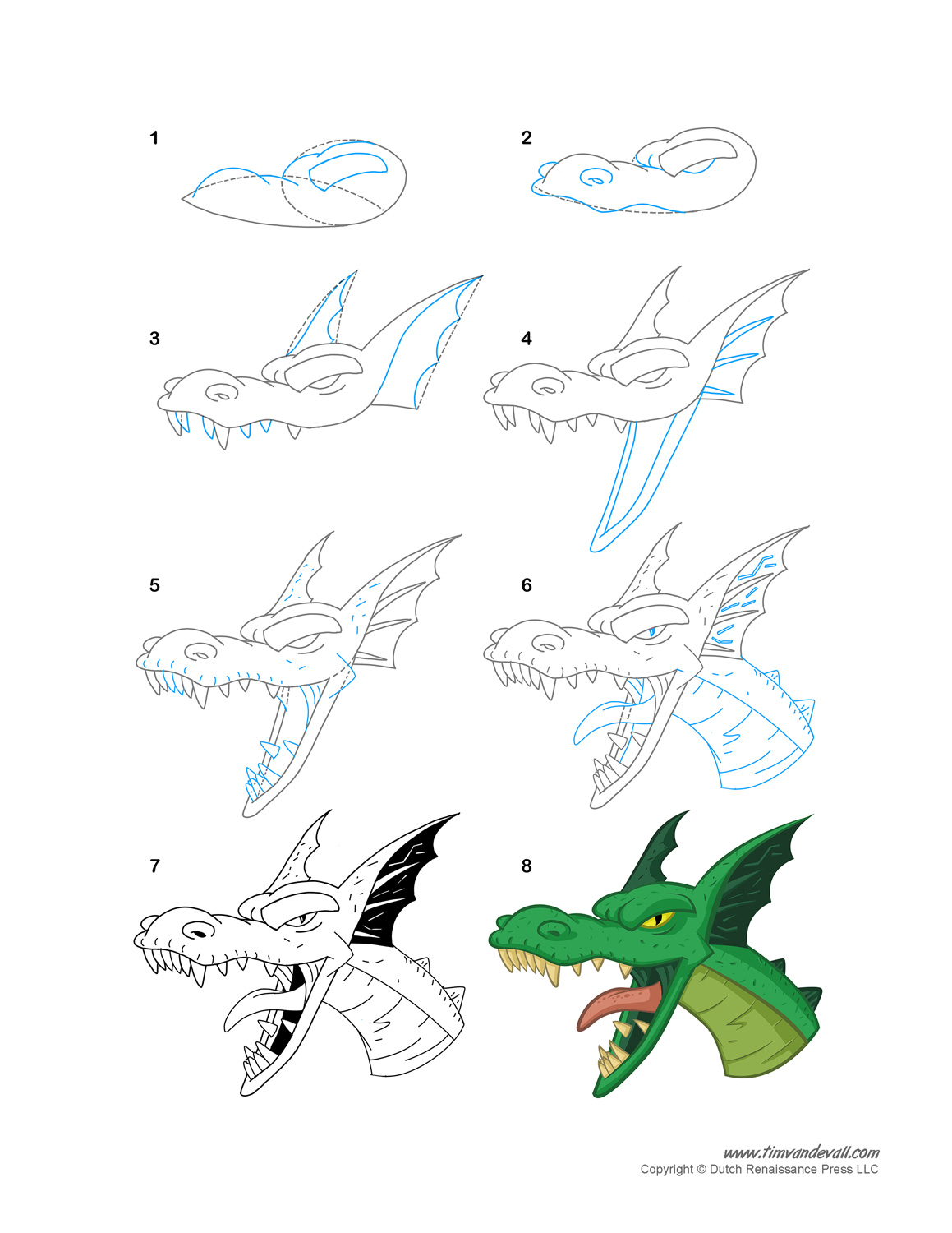 How To Draw A Dragon Dragon Coloring Pages