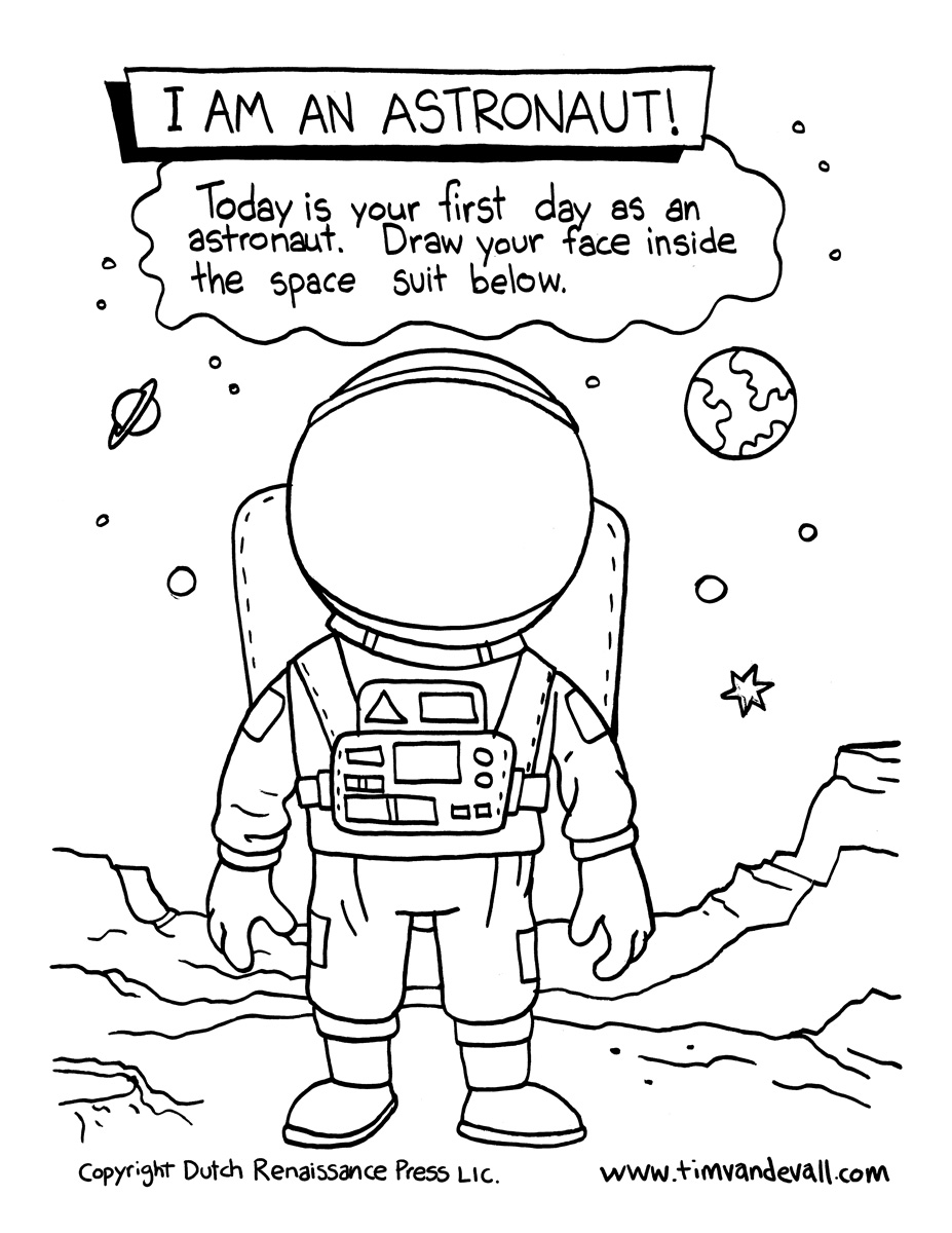 astronaut printables for 2nd grade - HD 927×1200
