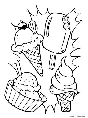 Ice Cream Coloring Page