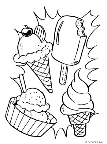 Ice Cream Coloring Page Tim S Printables