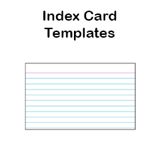 Printable Index Card Templates X And X Blank PDFs - 3x5 card template