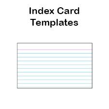 Printable Index Card Template | New Calendar Template Site