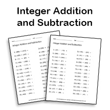 adding and subtracting integers worksheet math printables - Adding And Subtracting Integers Worksheet