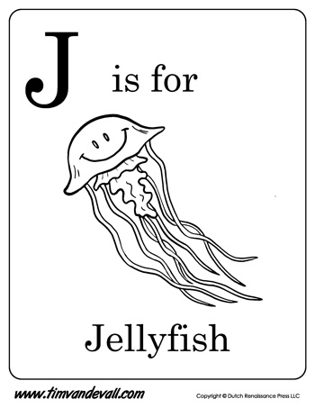 Jellyfish Shape  Letters