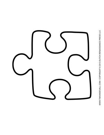 Puzzle Piece Template #3 - Tim\'s Printables