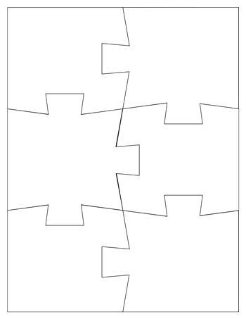 Jigsaw puzzle template 6 pieces tim 39 s printables for Jigsaw puzzle template for word