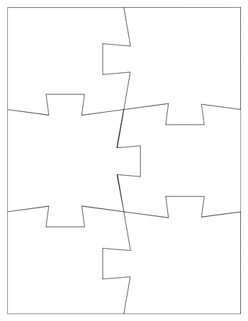 Jigsaw puzzle template 6 pieces tim van de vall for Jigsaw puzzle template for word