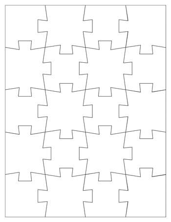 Jigsaw Puzzle Template 20 Pieces