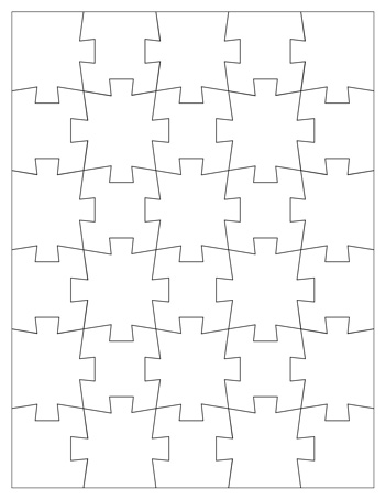 Jigsaw Puzzle Template 30 Pieces