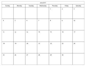 blank printable calendar