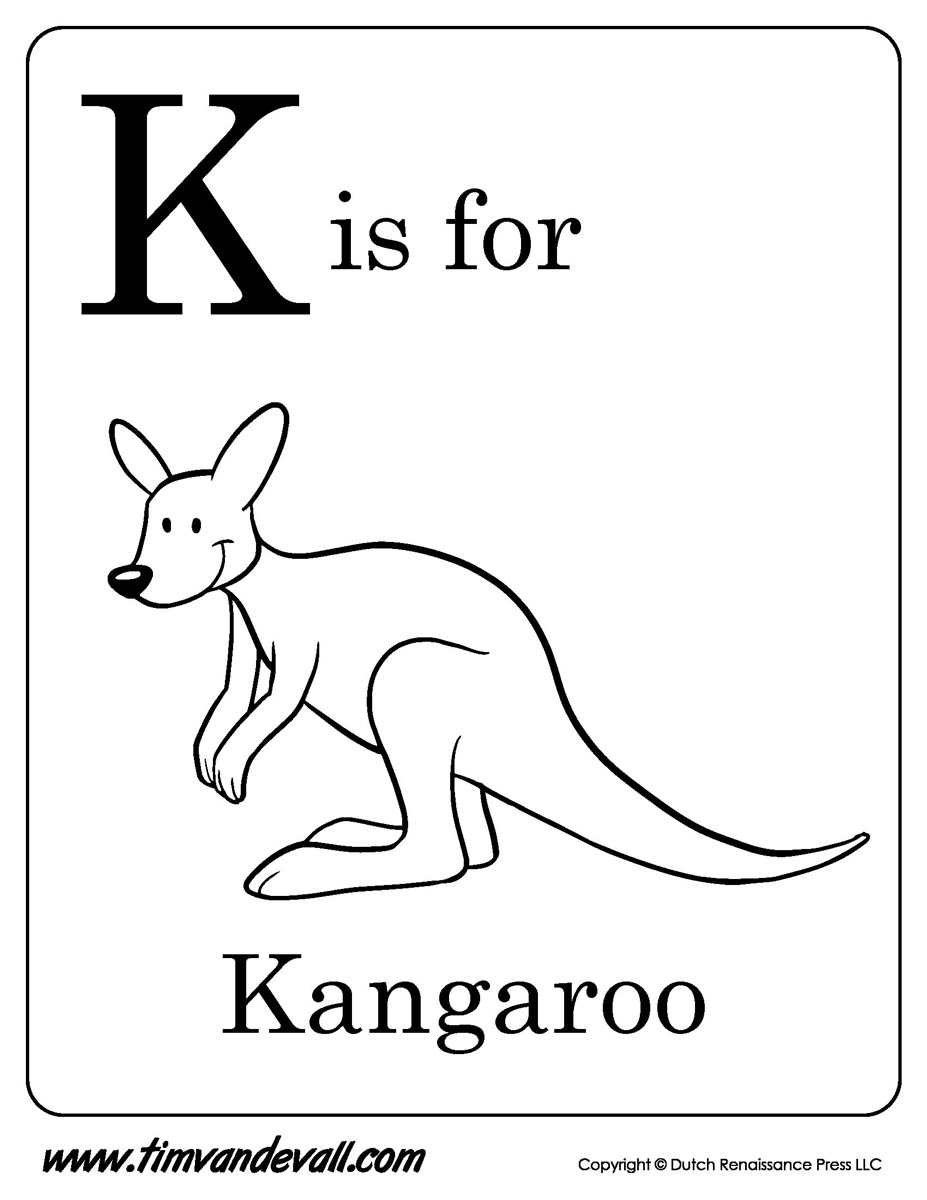 image about Kangaroo Printable known as K-is-for-Kangaroo-Printable - Tims Printables