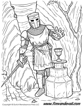 medieval knights coloring pages