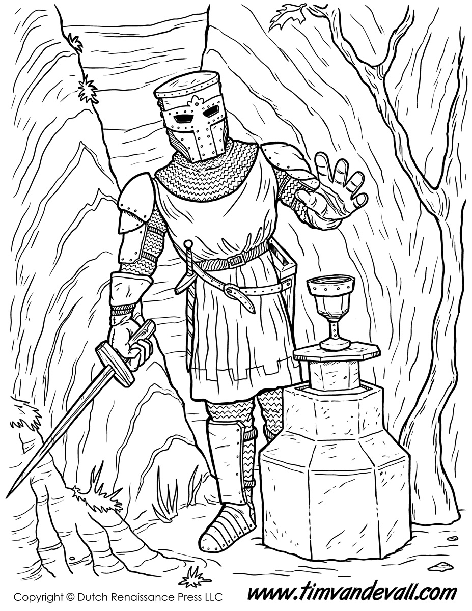 Knight Coloring Page Tim 39 s Printables