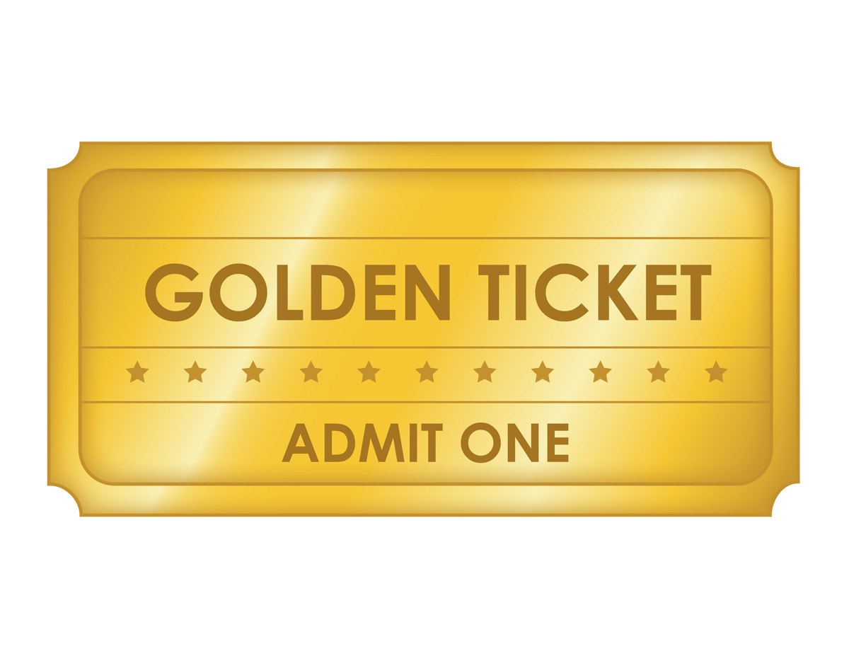 Large Golden Ticket Template  Free Printable Ticket Templates