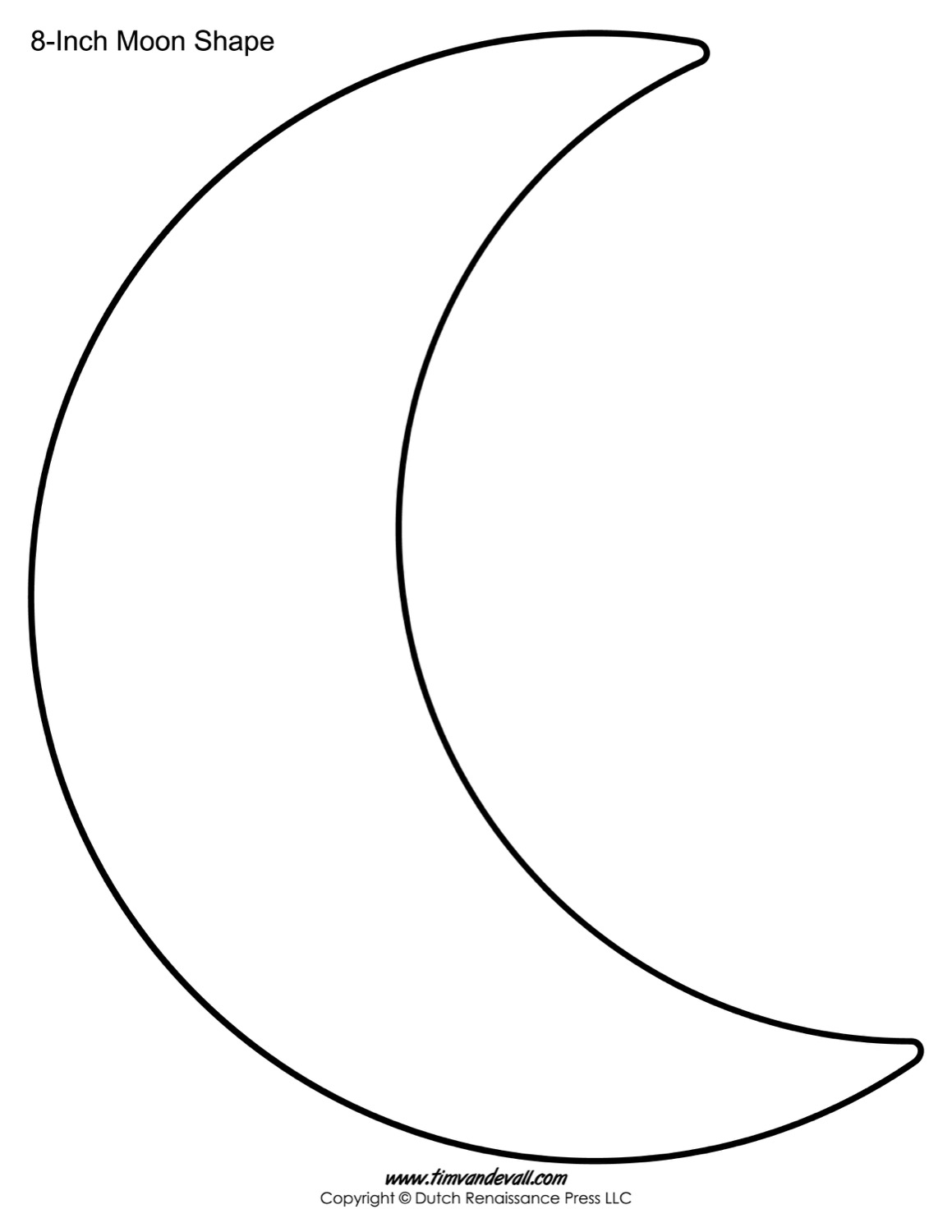 Moon template shape