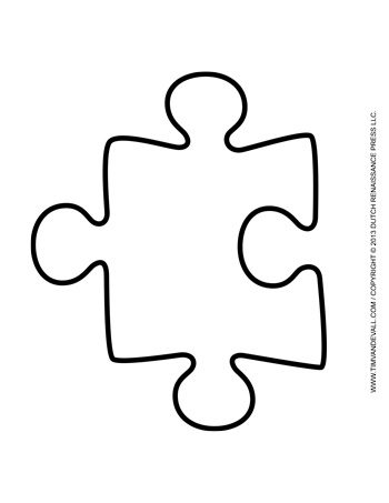 Puzzle Piece Template   TimS Printables