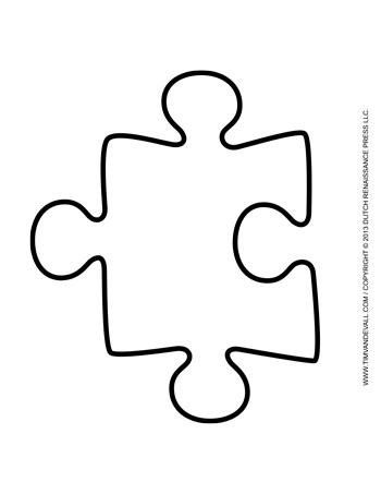 Puzzle Piece Template 4