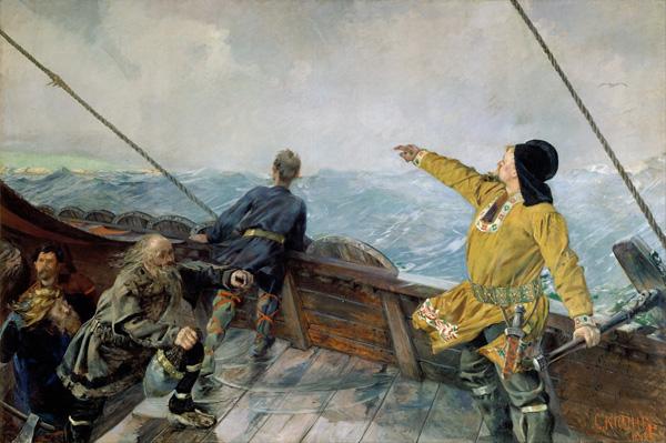 Leif Ericson discovers America