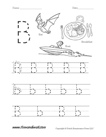 Letter B Worksheet - Tim's Printables
