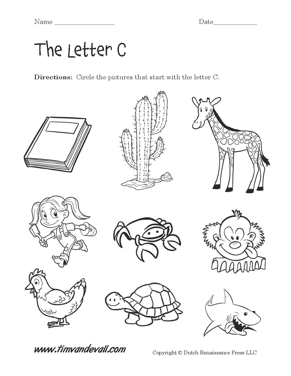 Workbooks letter c worksheets for preschool : Letter C Worksheets For Kindergarten & letter c worksheets ...