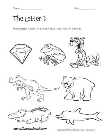 Letter D Worksheet 2 Tims Printables