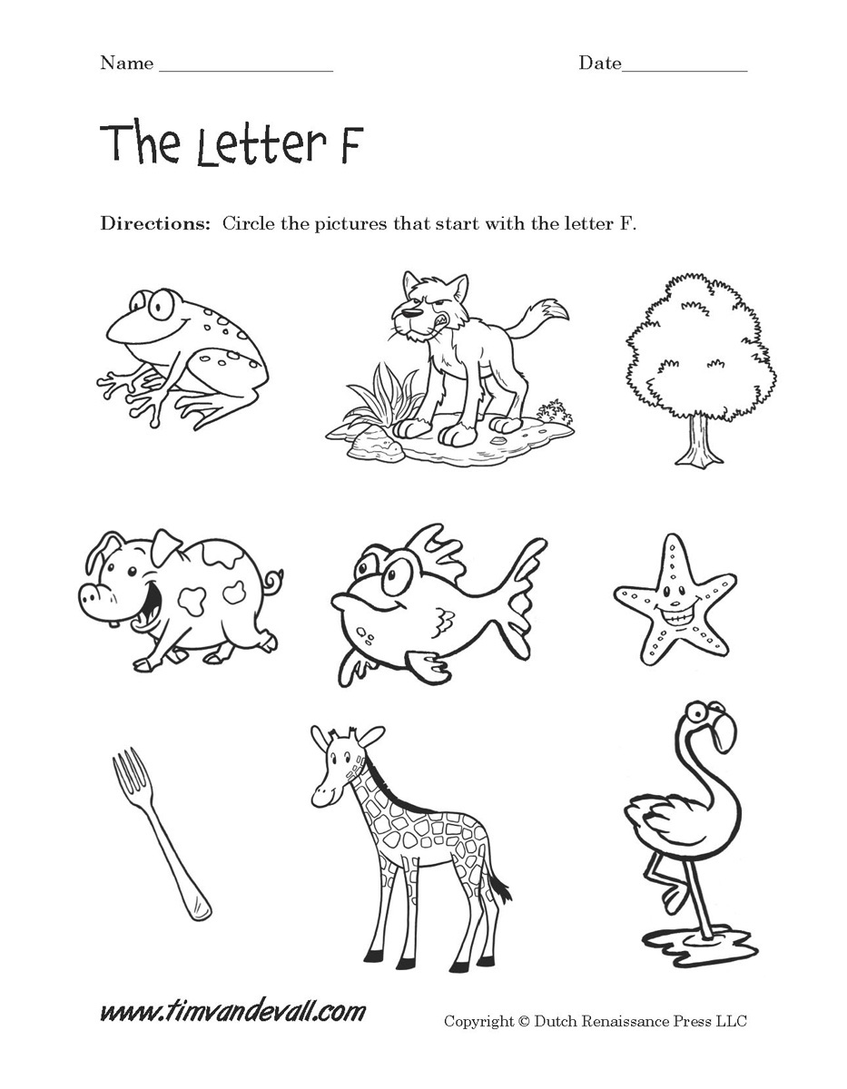 Letter F Worksheets | Preschool Alphabet Printables