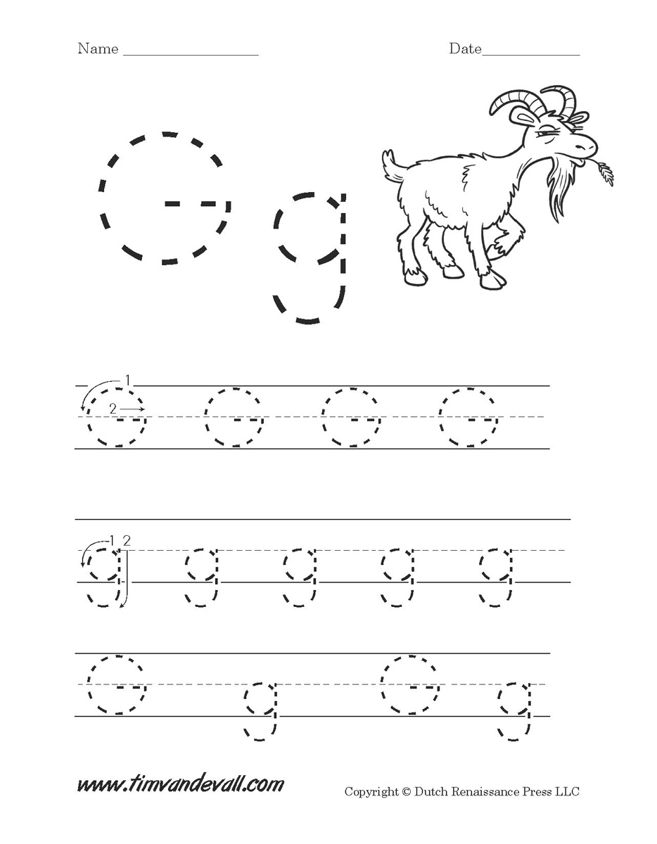 Letter G Worksheets | Preschool Alphabet Printables