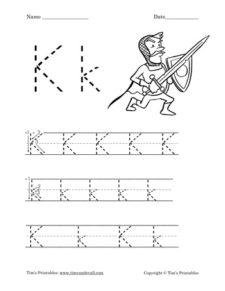 Letter K Worksheet