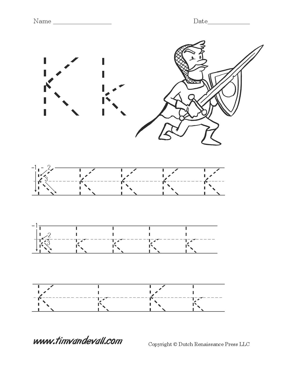 Workbooks letter a printable worksheets : Letter K Worksheet - Tim's Printables