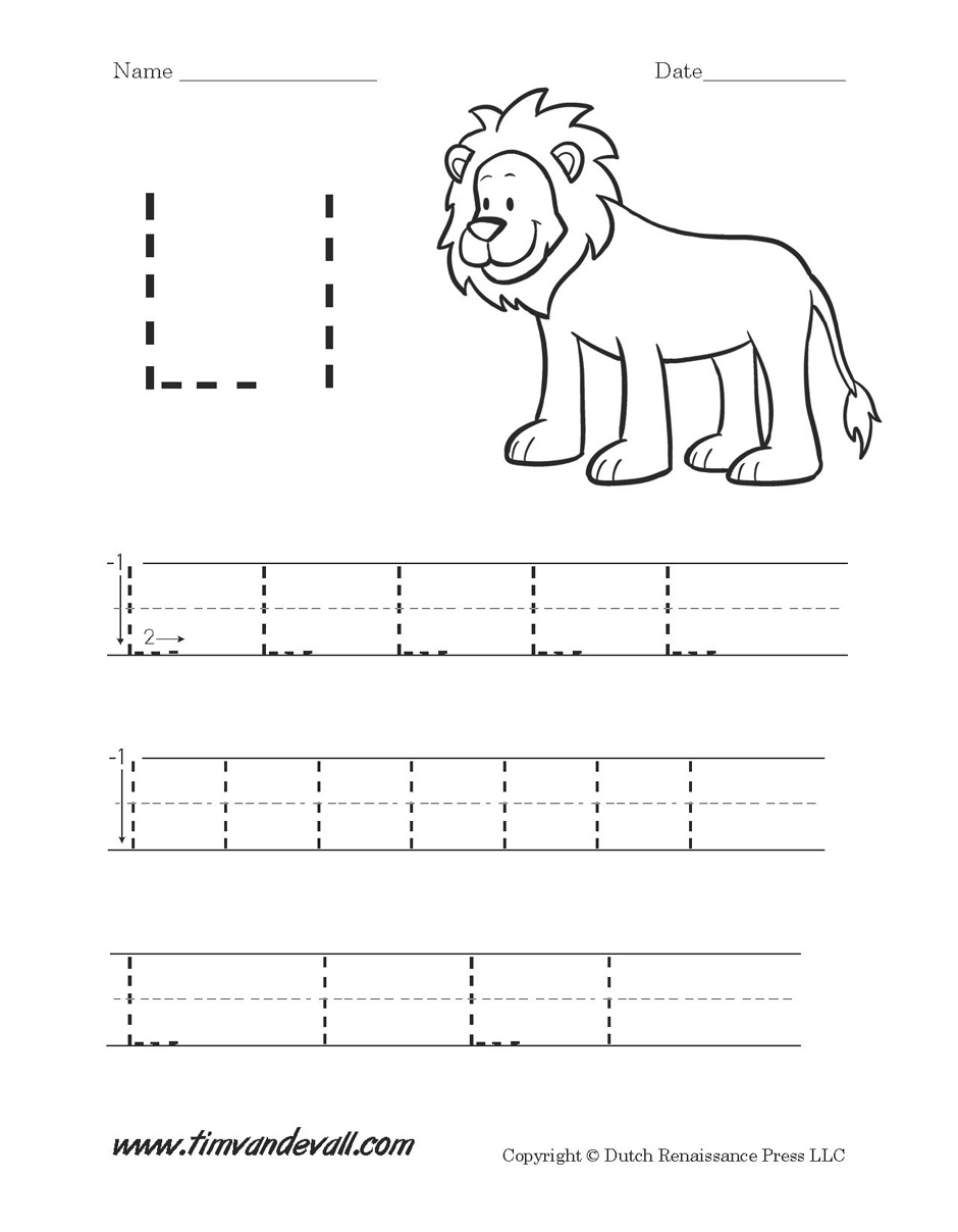 Workbooks letter a printable worksheets : Letter L Worksheet - Tim's Printables