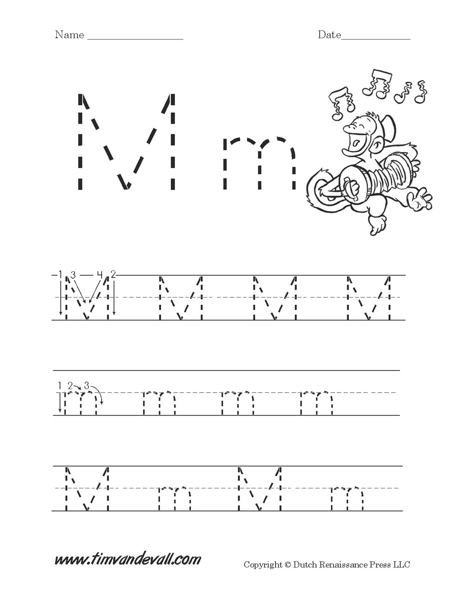 Letter M Worksheet Tim s Printables